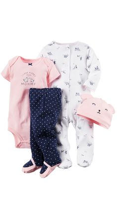 Baby girl's layette set from Carter's is perfect.