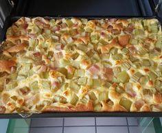 Rhabarber-Vanille-Kuchen vom Blech