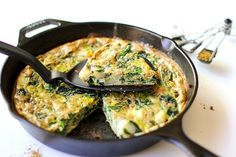 Spinach, Leek, and Potato Frittata | theroastedroot.net #brunch #recipe #paleo @foodfanatical @dreamfarm