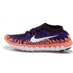 Nike Free Flyknit 3.0 Womens Shoes Purple / Pink / White $77.00