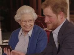 """YES, I THINK SHE REALLY LIKES HER GRANDSON, HARRY AND HARRY ADORES """"GRANNY""""…….HE'S SUCH A CUT-UP……………ccp"""