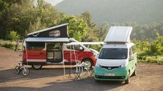 Nissan Unveils New Camper Vans -     I admit to being a sucker for a VW camper van of the sort you can't buy here in the States. Nissan has unveiled a pair of new camper vans that are going to be …