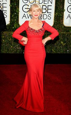 Helen Mirren - Golden Globes 2015 - in Dolce & Gabanna
