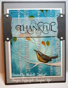 Thankful Heart Bird - Created by Michelle Zindorf using Stampin' Up! Products