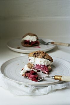 buckwheat shortcakes with roasted rhubarb