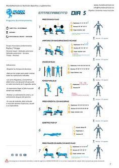 Semana de 5 días de entrenamiento - Mundo Nutrición. Nutrición deportiva y suplementos