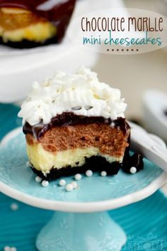 Chocolate Marble Mini Cheesecakes