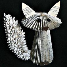 Fox Book Sculpture by Clara Maffei