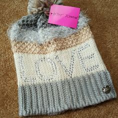 NEW Betsey Johnson Beanie Super cute beanie! NEW! Price is firm, BUT ASK FOR DISCOUNTED SHIPPING! Betsey Johnson Accessories Hats