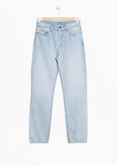 & Other Stories image 2 of High Waist Denim in Light Washed Blue