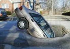 Potholes in Edmonton are bad this year!