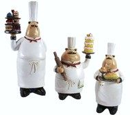 set Deluxe Cater Bistro Chef Figurines -- Find out more about the great product at the image link. Bistro Kitchen Decor, Fat Chef Kitchen Decor, Kitchen Themes, Kitchen Art, Kitchen Ideas, Kitchen Corner, Pantry Ideas, Kitchen Stuff, Kitchen Gadgets
