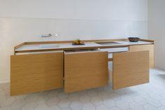 individuelle Küche aus massivem Eichenholz