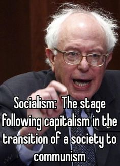 Sanders longs for a centralized government, mandated if not outright, government run economy. The likes of which drove the Soviet Union into bankruptcy, have provided poverty for all in places like Cuba and Venezuela. And which the Chinese are busy abandoning. ~ RADICAL Rational Americans Defending Individual Choice And Liberty