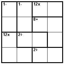 Number Logic Puzzles: 23058 - Kenken size 4