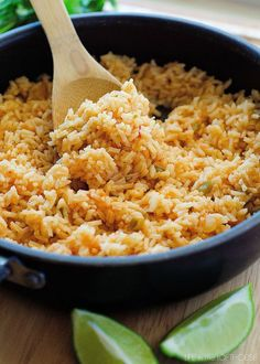 This Mexican Rice isso delicious! It's a perfect side tocomplement any Mexican inspired dish! (I usually like toserve it with myHoney Lime Chicken Enchiladas) Yum!   My little KallenLOVES this rice. He can neverget enough! It's always a big hit with the rest of us as well. From start to finish it's …