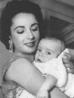 Elizabeth Taylor with son, Michael Wilding