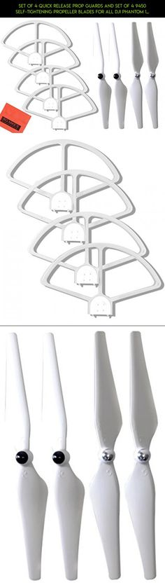 Set of 4 Quick Release Prop Guards and Set of 4 9450 Self-tightening Propeller Blades for All DJI Phantom 1, Phantom 2, Phantom 3 Series Quadcopters - Color White #fpv #plans #racing #drone #standard #technology #tech #camera #parts #wings #dji #shopping #kit #gadgets #phantom #products #3
