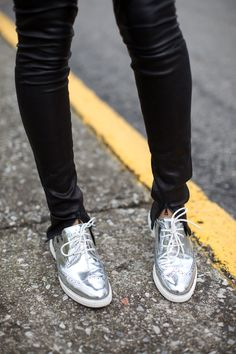 metallic oxfords