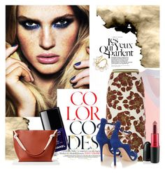 """""""Eye Contact"""" by sue-mes ❤ liked on Polyvore featuring Chanel, Jonathan Saunders, Tak.Ori, Gianvito Rossi, MAC Cosmetics and Ana Khouri"""