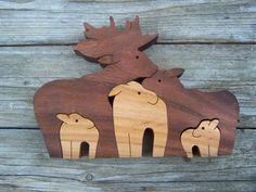 bois d'orignal animal puzzle scie à chantourner par BasketsByDebi, $20.00