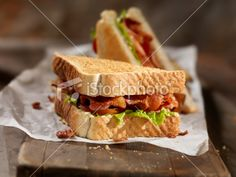 BLT Sandwich with French Fries - Stock Photo - iStock