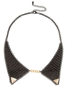 gold tipped collar necklace