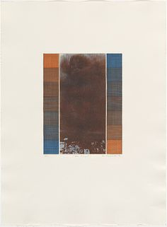 Bea Maddock | Blue orange I, October 1976 | ink; paper photo-etching, aquatint, etching and aquatint, printed in colour, from six plates | NGA