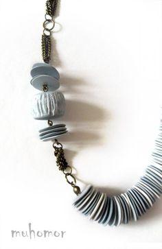 muhomor | Alina Strekach | polymer clay bead necklace