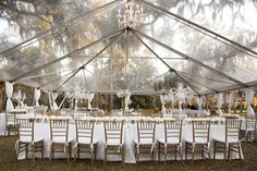 Style Me Pretty | Gallery | Picture | #582952    I am loving these clear tents.  Ingenious!