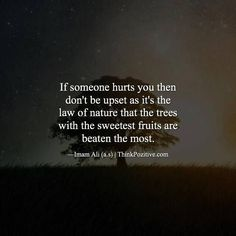 Best Positive Quotes : If someone hurts you then don't be upset as it's the law of nature. via (Think… Hazrat Ali Sayings, Imam Ali Quotes, Muslim Quotes, Religious Quotes, Quran Verses, Quran Quotes, Wisdom Quotes, Poetry Quotes, Beautiful Islamic Quotes