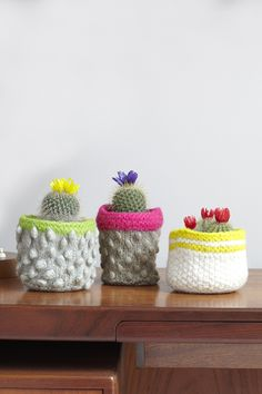 How to knit a cactus planter cosy | Mollie Makes How to Knit