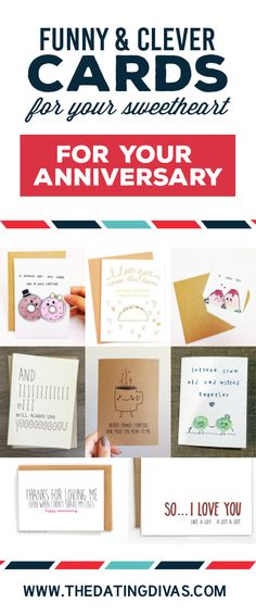 Funny Cards for Your Sweetheart Romantic cards, Anniversaries - printable anniversary cards for husband