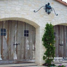Garage and shed photos french country design pictures for French country garage doors