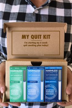 Are you trying to quit or replace smoking. Check out the new Harmless Cigarette 4 week quit kit to learn how you can quit smoking in 30 days or less. Satisfaction Guaranteed!