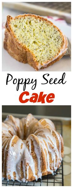 Poppy Seed Cake – a quick and easy cake recipe that comes together in minutes.  Moist, delicious, and great for dessert, or with a cup of coffee.