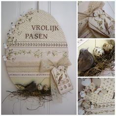 't Scrap Ateljeetje - Easter Egg made with Pion Design paers A Day in May