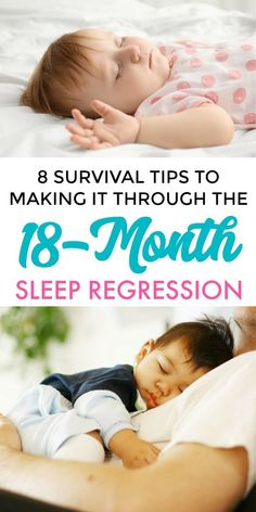 8 Survival Tips for the 18 Month Sleep Regression. What is Happening at 18 Months & How to Help Your Toddler Through the 18 Month Sleep Regression. #18monthsleepregression #toddlersleepregression #sleepregressiontoddler #tipsfor18monthsleepregression #sleepregressionages #toddlernotsleeping #toddlersleeproblems