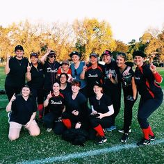 You guys! We won! We're winners! First win of the season for the #swbl Devils so we took a photo to commemorate! #winners