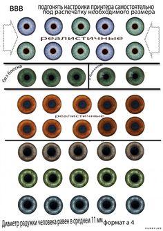 Изготовление реалистичных глаз в домашних условиях