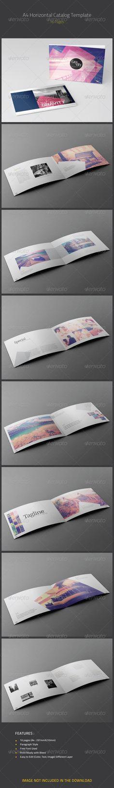 A4 Horizontal Catalog Template - Catalogs Brochures