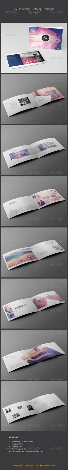 A4 Horizontal Catalog Template - Catalogs Brochures