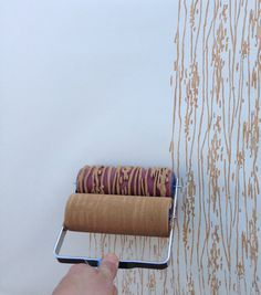 Seriously.......Patterned Paint Roller in Wood Grain design from NotWallpaper via Etsy