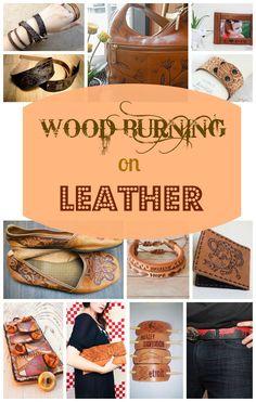 Wood Burning on Leather   walnuthollowcrafts