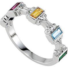 multi-color stone ring