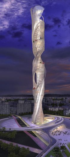 Taiwan Tower Conceptual Design Competition, Taichung, China designed by Raymond…