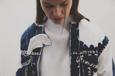Use of silicone on denim as a trompe oil is yet again another innovative to traditional notions of embroidery of denim.  Faustine Steinmetz Autumn Winter 2015