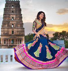 Mirror Work Half Sari by Sony | Saree Blouse Patterns