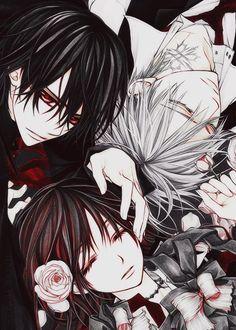 Vampire Knight- Yuuki/Yuki Cross/Kuran With Kaname Kuran, and Zero Kiryu