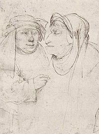 reverse: Two pharisees. Hieronymus Bosch, Renaissance Artists, Dutch Painters, Funny Tattoos, Equine Art, Wassily Kandinsky, Pencil Portrait, Vincent Van Gogh, Abstract Landscape